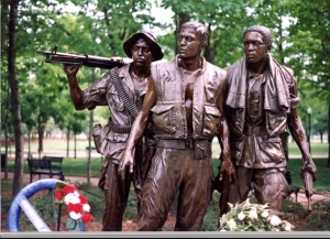 War memorials in Washington D.C. dedicated to those who fought in the Vietnam War.