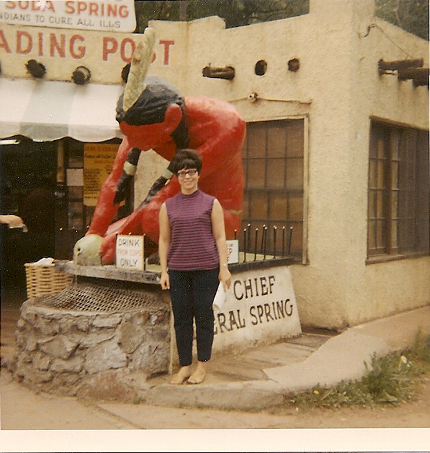 That's me in front of the old Ute chief in old Manitou Springs, Colorado (Nov. 1969)
