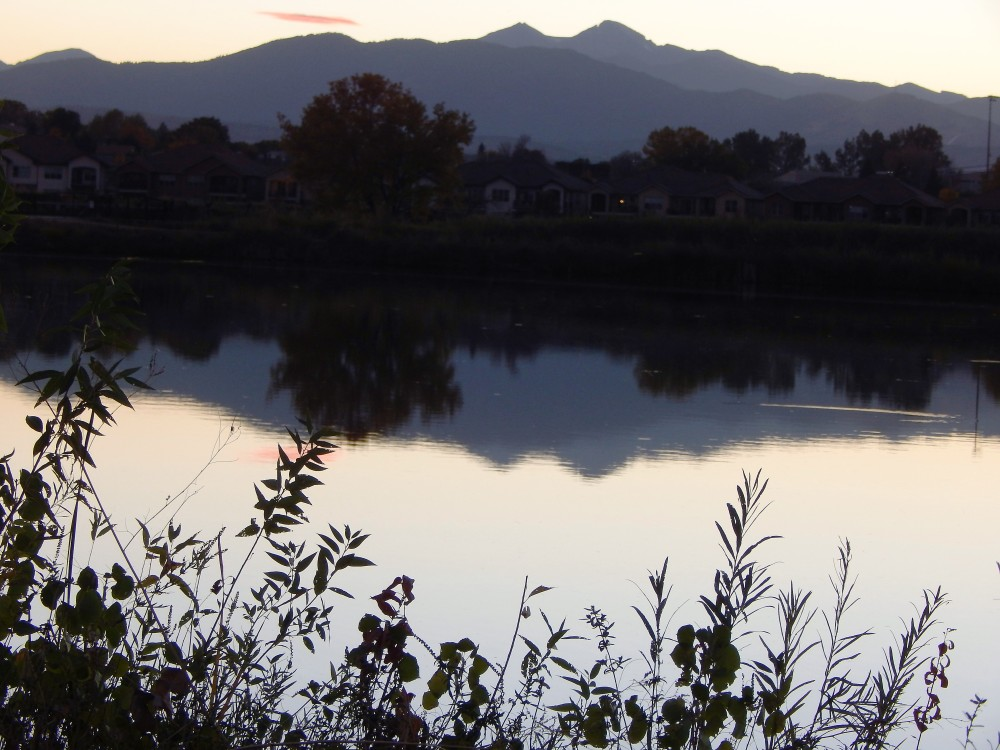 Looking west towards the mountains from River's Edge Nature Preserve, Loveland, Colorado photo credit: Joyce E. Johnson