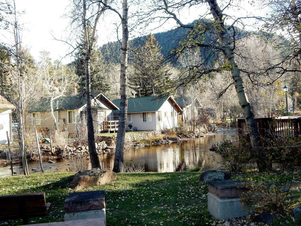 A recent photo of Estes Park, Co., along the Big Thompson River, (Nov. 2015) photo credit; Joyce E. Johnson